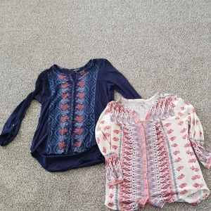 2 Lucky Brand Size Small Shirts
